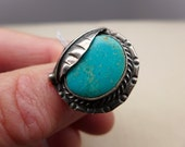 Vintage Navajo Turquoise  and Sterling Ring