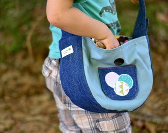 CUSTOM Children's Gathering Bag / Sturdy Toddler Tote