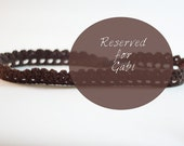 Skinny Brown Crocheted Lace Headband - Reserved for Gabi