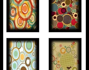 Vintage Circles - Scrabble Tile Collage Sheets - Digital Download Sheet - Collage Sheet - Scrabble Tiles - Vintage Tiles - Jewelry - DDP556