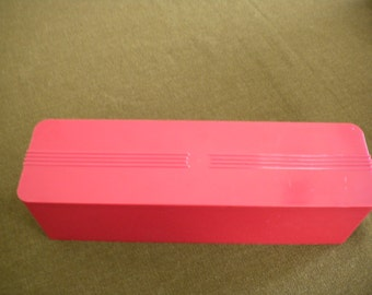 Red Plastic Storage Container