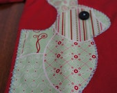 Toddlergirl shirt with bunny applique