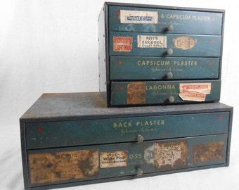 Vintage Johnson & Johnson Pharmacy Medical Plasters Cabinet Remedies Storage