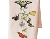 Organic Cotton Butterfly Teatowel