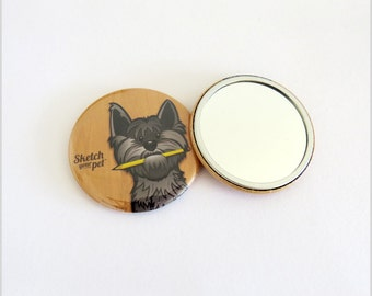 Harry the cairn terrier pocket mirror