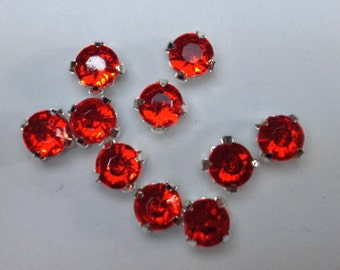 20 crystals strass red 4mm.