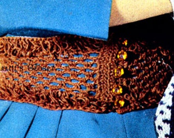 Waist Cinch Belt, For All Sizes, Vintage Crochet Pattern, INSTANT DOWNLOAD PDF
