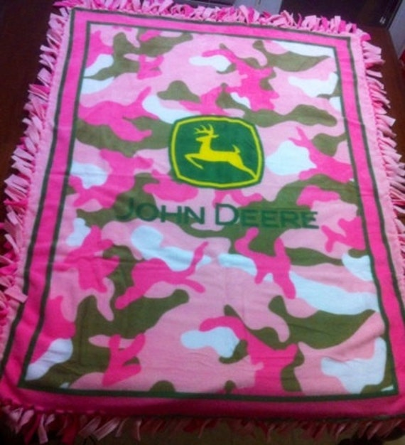 Items Similar To Pink Amp Camo John Deere Tie Knot Fleece