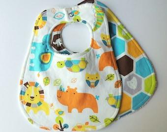 Baby Bibs - Zoo Animal Bibs - Zoo Animals - Lion Bibs - Gender Neutral Baby Bibs - Terry Cloth Bibs - Zoo Baby Bibs - Zoo Animals - Zoo Baby