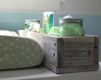 White Washed Barn Wood Box