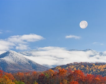 Smoky Mountain Moonrise - Metal Print - Great Smoky Mountains Pictures - Fine Art Photography - William Britten