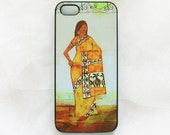 Indian woman iPhone 5 case, iPhone 5s case, Ethnic iPhone 5 cover, iPhone 5s cover, art iPhone 5/5s, unique