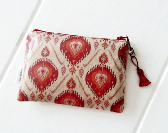 Ladies Ikat  Print Cosmetic Bag