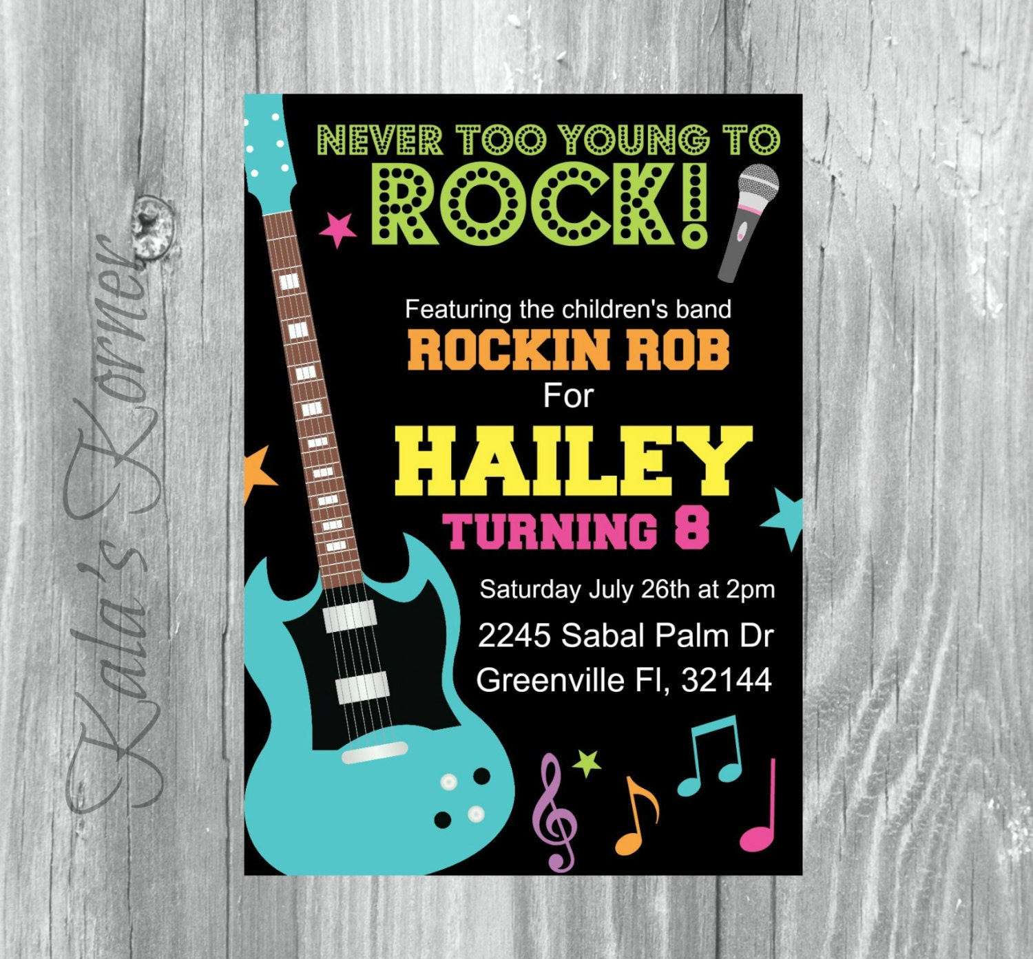 rock and roll birthday invitation rock and roll birthday