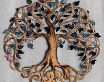 Unique Wedding Gift Tree of Life Infinity Tree Wall Decor  Wall Art