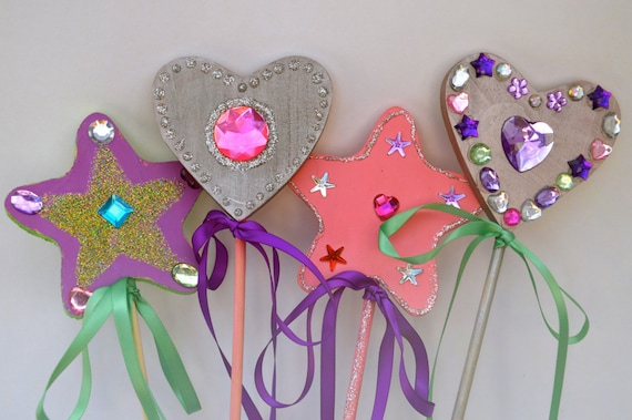 Items similar to wand craft kit fairy wand decorating for Princess wand craft kit