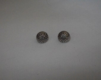 Sterling Silver Button Post Earrings