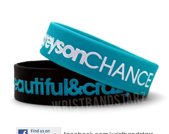 1 SINGLE Beautiful Crazy Greyson Chance Bracelet Wristband WIDE