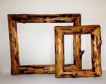 Handmade Twig Style Open Frame Set Rustic Home Decor