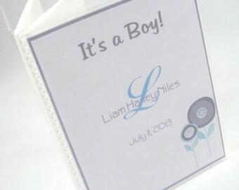 Baby Brag Book Baby Boy Photo Album Personalized photo album Its a Boy newborn Baby Shower Gift Grandmas Brag Book Blue Gray 4x6 picture