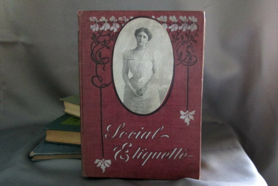 Wedding Etiquette Books: Victorian Book Social Etiquette / Manners And By WickAvenue