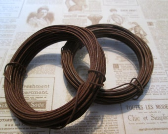 Rusty tin wire 20 gauge 30 ft long