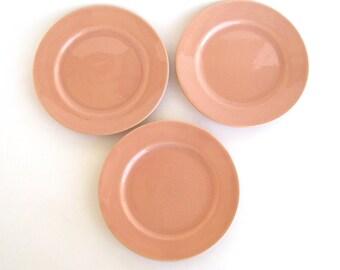 Franciscan El Patio Bread Plate Coral Satin x 3
