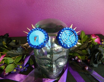 Blue Jeweled Cyber Goggles