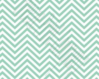 Mint chevron craft  vinyl sheet - HTV or Adhesive Vinyl -  mint and white zig zag pattern   HTV65