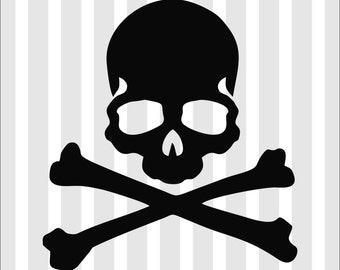 Skull And Bones - Car Truck Window Laptop Decal Sticker - Many Colors