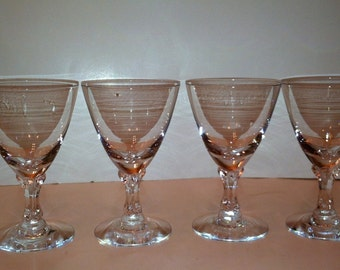 Fostoria Claret Glasses Set Of Four