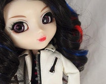 Sale! Katty Perry Black highlighted Wig for Pullip Dolls 1/3 Head size