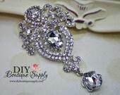 Large Wedding Brooch Rhinestone Brooch Pin - Wedding Jewelry Bridal Accessories Crystal Brooch Bouquet - Bridal Brooch Sash Pin 95mm 533198