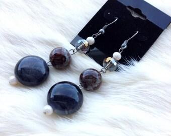 Brown Earth Tone Earrings