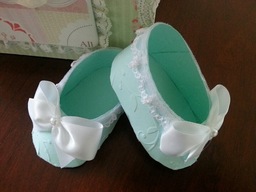 Baby Shower Favors Discount ~ Set of ten baby shoe favors shower treat boxes