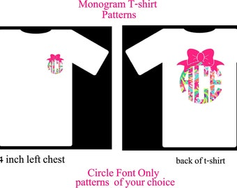 Monogram T-Shirt with Bow