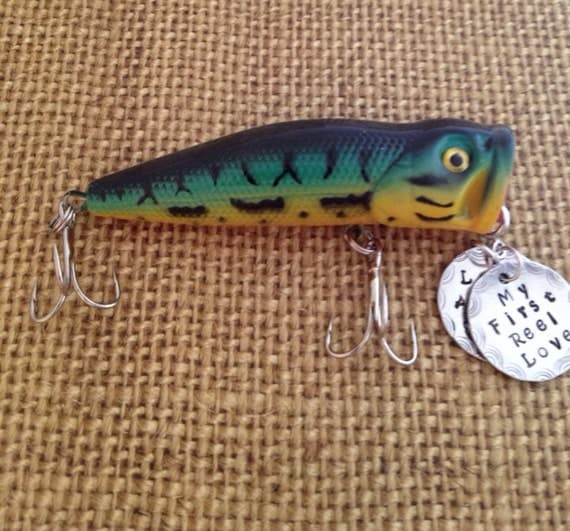 Personalized fishing lure with your special message on 2 for Engraved fishing lures