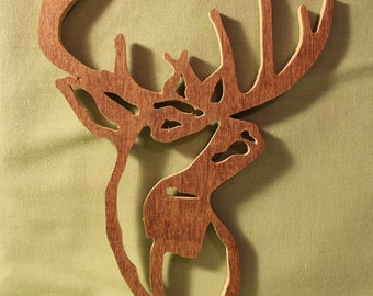Deer Scroll-work