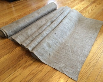 "By the Foot Pricing- 36"" Wide Burlap Aisle Runner"