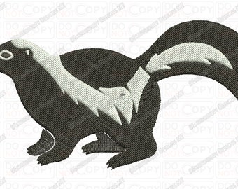 Skunk Embroidery Design in 3x3 4x4 and 5x7 Sizes