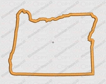 Oregon State Applique Embroidery Design in 4x4 and 5x7 Sizes