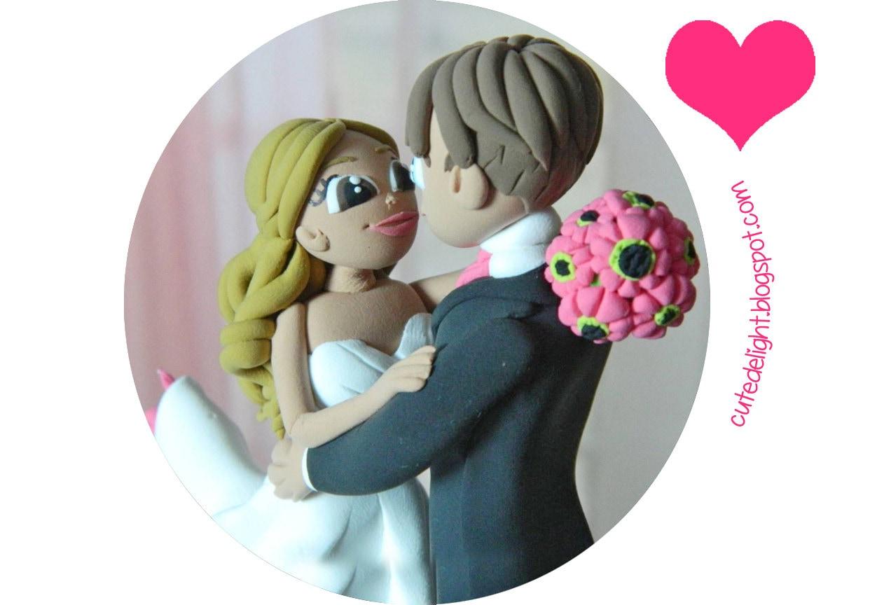 Wedding Cake Topper Romantic cake topper CUSTOM cake