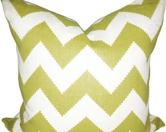 Kravet Chevron Jonathan Adler Decorative Pillow Cover - Throw Pillow - Toss Pillow - Linen - Both Sides - 18x18, 20x20
