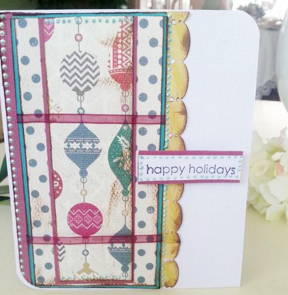 Handmade Greeting Christmas Card Ready to Ship
