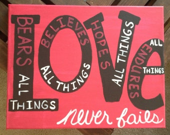 Love Never Fails Canvas