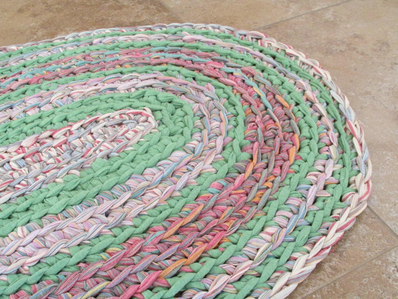 Crocheting Rag Rugs : Crochet Rag Rug Oval Crochet Rag Rug by TotahTreasures on Etsy