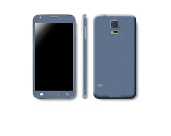 Samsung Galaxy S5 Full Body Wrap DECAL Sticker Skin Kit Metal Series by Stickerboy - Set 2