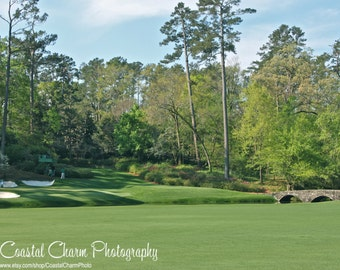 Augusta National 12th Hole Photograph, The Masters, Southern, Christmas Gift, Golf Decor, Sports Theme, Man Cave, Georgia Print 11x14