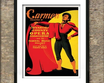 Vintage Carmen Opera Poster Art Print different sizes available