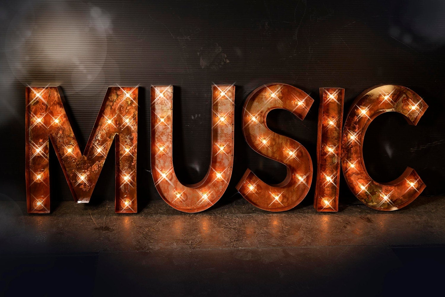 Music Marquee Sign Music Lighted Metal MARQUEE SIGN Carnival